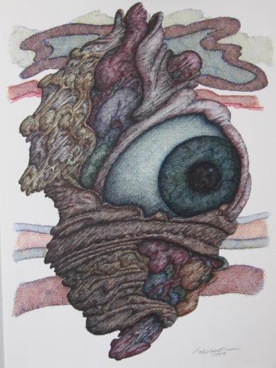 Crtež, pero-tuš u boji, 1998