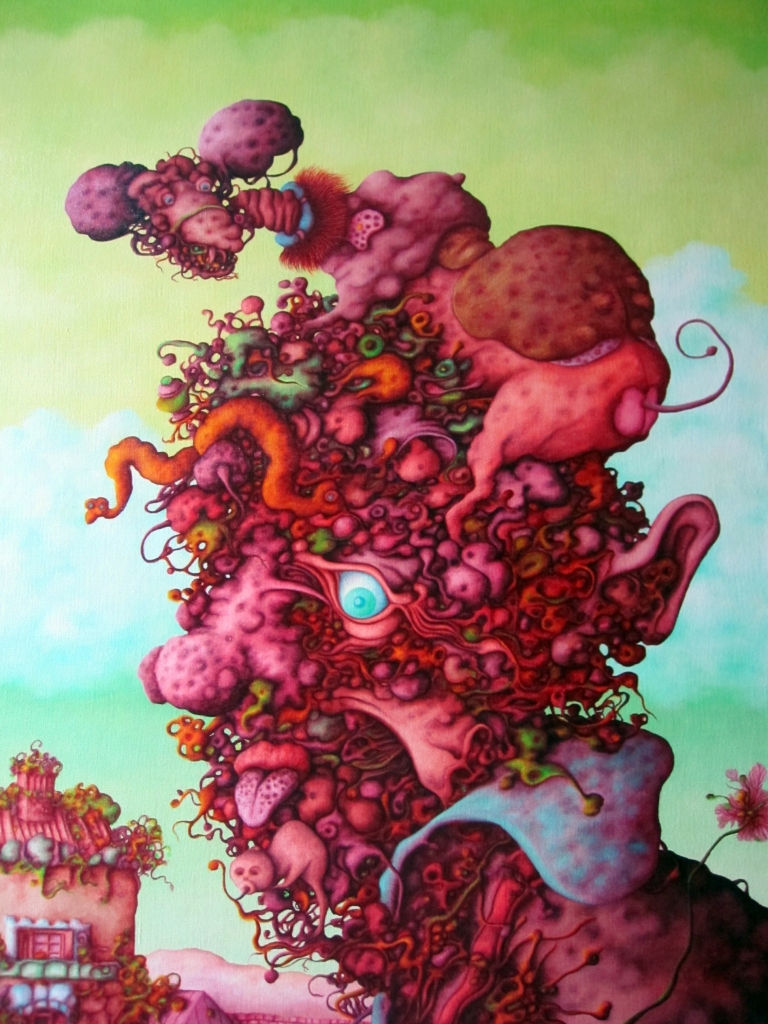 Prijatelj iz djetinjstva, oil on canvas 1969; 88x73