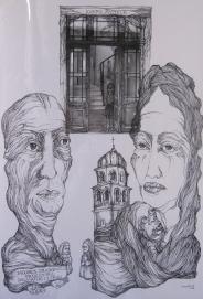 Jacobus crkva i zena sa djetetom